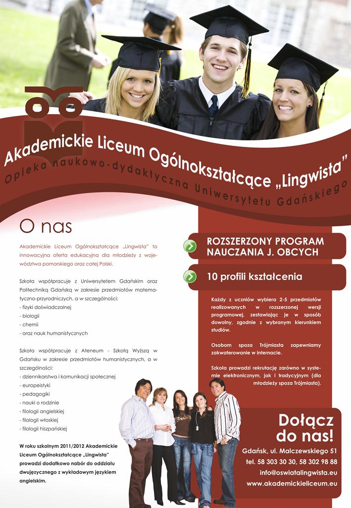 """Akademickie Liceum Ogólnokształcące \""""Lingwista\"""""""