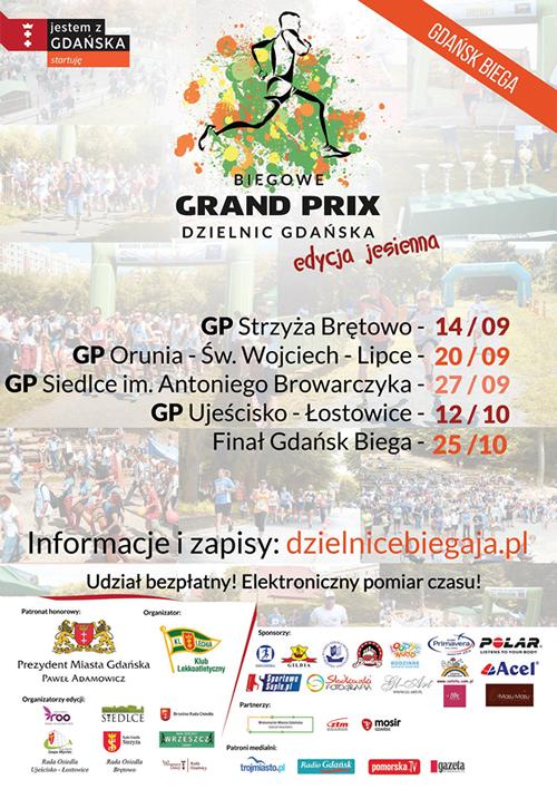 Plakat - Biegowe Grand Prix Dzielnic Gdańska